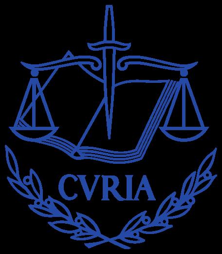 Logo de la cour de justide de l'Union Européenne